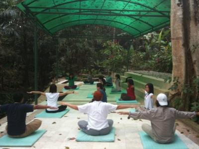 Yoga class at Jiwa Damai