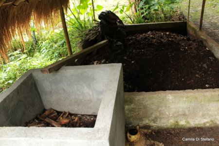 Biological composting on Bali