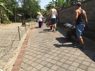 Cleaning the river at Jiwa Damai